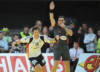 Handball EM Herren 2010 Vorrunde Deutschland - Schweden 22.01.2010 Torsten Jansen (GER) jubelt