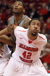 17 December 2014: Will Ransom during an NCAA Men's Basketball game between the Skyhawks of University of Tennessee - Martin and the Redbirds of Illinois State at Redbird Arena in Normal Illinois