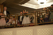 CHILDREN WATCHING FROM THE BALCONY, The Royal Caledonian Ball 2010. Grosvenor House. Park Lane. London. 30 April 2010 *** Local Caption *** -DO NOT ARCHIVE-&copy; Copyright Photograph by Dafydd Jones. 248 Clapham Rd. London SW9 0PZ. Tel 0207 820 0771. www.dafjones.com.<br /> CHILDREN WATCHING FROM THE BALCONY, The Royal Caledonian Ball 2010. Grosvenor House. Park Lane. London. 30 April 2010