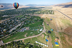 """Great Reno Balloon Race 4"" - The 2011 Great Reno Balloon Race balloons photographed from a hot air balloon."