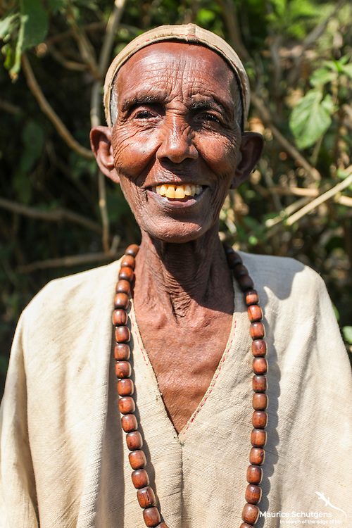 An age old priestess on the way to Bahir Dar, Ethiopia.