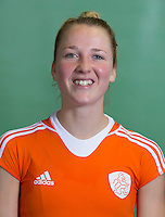 DELFT - Ireen van den Assem. Nederlands zaalhockeyteam dames voor EK in Minsk. COPYRIGHT KOEN SUYK