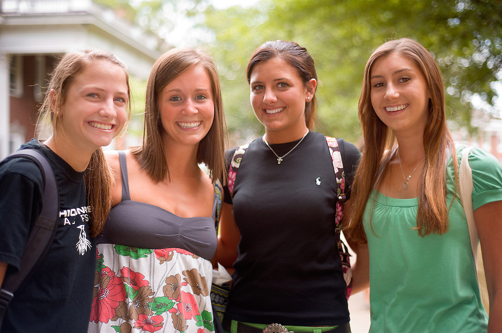 19003Pre-College ..left to right:..Carly Koss, Beth Bonistau,Alyssa Higey,and  Natalie Page