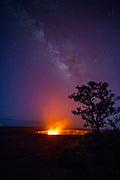 Milky Way, Halemaumau, Crater, KIlauea Volcano, Hawaii Volcanoes National Park, Island of Hawaii, Hawaii