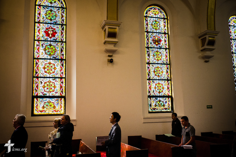 Parishioners and visitors worship at the Lutheran Church of The Good Shepherd on Sunday, Jan. 15, 2017, in Mexico City. LCMS Communications/Erik M. Lunsford