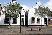 Two old Dutch houses, Den Burg, Texel, Netherlands,
