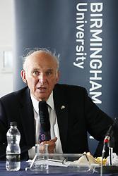 Liberal Democrats leader Sir Vince Cable speaks at Birmingham City University's Centre for Brexit Studies.