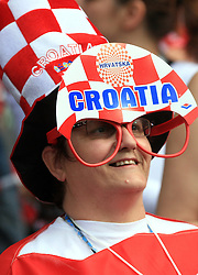 Fan of Croatia before the UEFA EURO 2008 Group B soccer match between Austria and Croatia at Ernst-Happel Stadium, on June 8,2008, in Vienna, Austria.  (Photo by Vid Ponikvar / Sportal Images)
