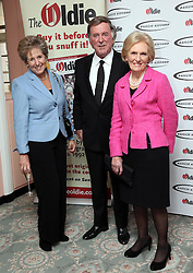 Norma Major, Sir Terry Wogan and Mary Berry arriving at the Oldie of the Year Awards in London, Tuesday, 4th February 2014. Picture by Stephen Lock / i-Images