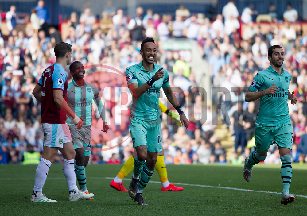 Pierre-Emerick Aubameyang of Arsenal celebrates after scoring his sides second goal - Mandatory by-line: Jack Phillips/JMP - 12/05/2019 - FOOTBALL - Turf Moor - Burnley, England - Burnley v Arsenal - English Premier League