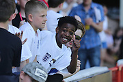 England fans during the UEFA European Under 17 Championship 2018 match between England and Italy at the Banks's Stadium, Walsall, England on 7 May 2018. Picture by Mick Haynes.