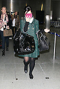 08.MARCH.2011. LONDON<br /> <br /> LILY ALLEN ARRIVING BACK IN LONDON AFTER GETTING OFF THE EUROSTAR<br /> <br /> BYLINE: EDBIMAGEARCHIVE.COM<br /> <br /> *THIS IMAGE IS STRICTLY FOR UK NEWSPAPERS AND MAGAZINES ONLY*<br /> *FOR WORLD WIDE SALES AND WEB USE PLEASE CONTACT EDBIMAGEARCHIVE - 0208 954 5968*