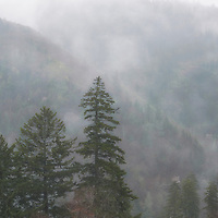 Foggy mountains seen from Morton Overlook, Great Smoky Mountain National Park