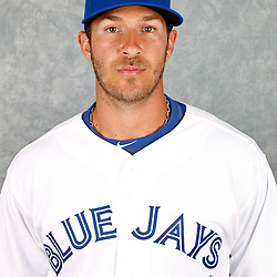 March 2, 2012; Dunedin, FL, USA; Toronto Blue Jays catcher J.P. Arencibia (9) poses for a portrait during photo day at Florida Auto Exchange Stadium.  Mandatory Credit: Derick E. Hingle-US PRESSWIRE