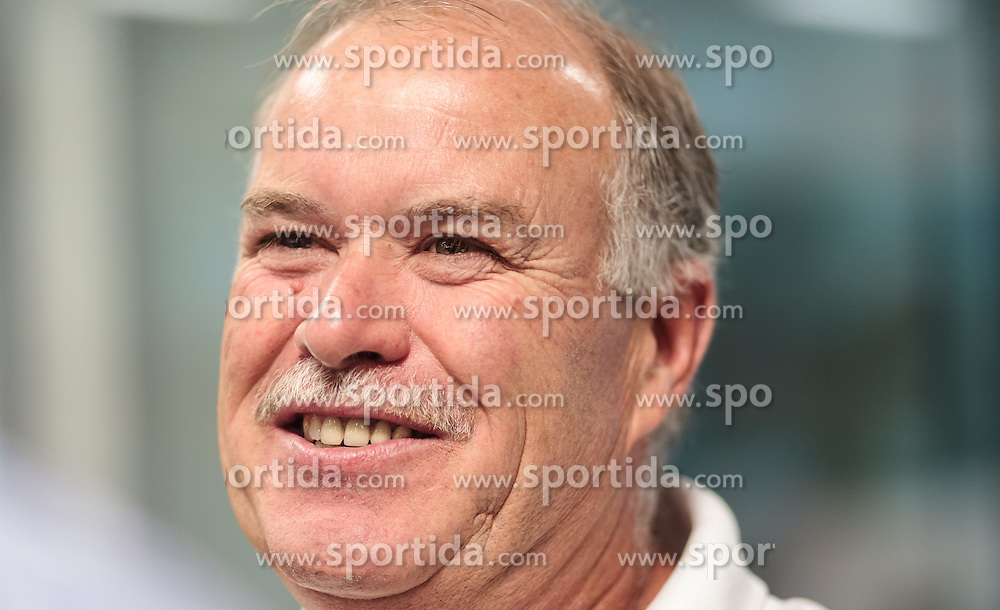 10.08.2015, Red Bull Akademie Liefering, Salzburg, AUT, EBEL, Medien Tag, im Bild Trainer Dave MacQueen (Dornbirner EC) // during the Erste Bank Icehockey League Media Day at the Red Bull Football and Icehockey Academy Liefering in Salzburg, Austria on 2015/08/10. EXPA Pictures © 2015, PhotoCredit: EXPA/ JFK