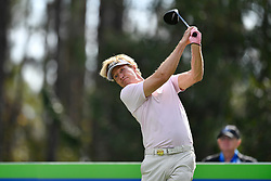 January 19, 2019 - Lake Buena Vista, FL, U.S. - LAKE BUENA VISTA, FL - JANUARY 19: Jack Wagner tees off on hole 2 during the third round of the Diamond Resorts Tournament of Champions on January 19, 2019, at Tranquilo Golf Course at Fours Seasons Orlando in Lake Buena Vista, FL. (Photo by Roy K. Miller/Icon Sportswire) (Credit Image: © Roy K. Miller/Icon SMI via ZUMA Press)