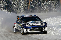 MOTORSPORT - WRC 2010 - RALLY SWEDEN - KARLSTAD (SWE) - 11 to 14/02/2010 - PHOTO : ALEXANDRE GUILLAUMOT / DPPI<br /> ANDREAS MIKKELSEN (NOR) / OLA FLOENE (NOR) - FORD FIESTA S2000 - ACTION