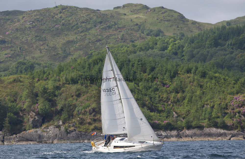 Silvers Marine Scottish Series 2017<br /> Tarbert Loch Fyne - Sailing<br /> <br /> 1032C, Stardust, Keith Johnson, RNCYC, Frigate 27<br /> <br /> Credit: Marc Turner / CCC