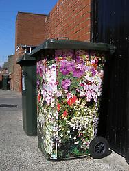 Decorated wheelie bin UK
