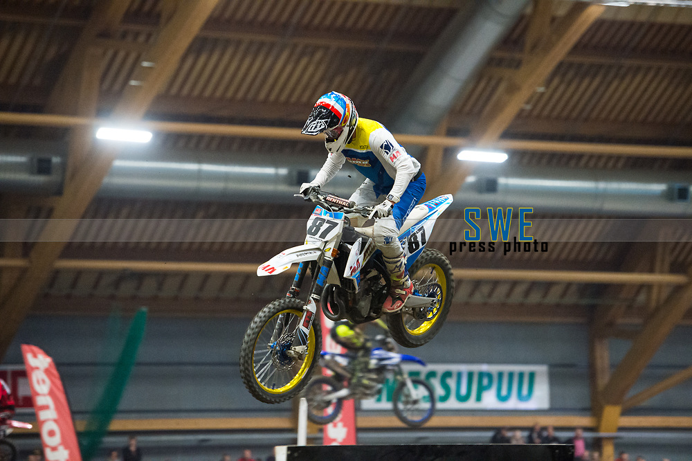 2019-11-08 | Messu- ja urheilukeskus, Tampere: (87) Kim Sorenssen during Tampere Supercross in Messu- ja urheilukeskus. ( Photo by: Elmeri Elo | Swe Press Photo )