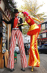 High Jinx and Street performers were part of a very colourful and successful Westport Arts Festival 2009...Pic Conor McKeown