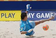 Football-FIFA Beach Soccer World Cup 2006 - Semi-final -BRA_POR -Bruno,GK-POR- can't stop the brazilian - Rio de Janeiro - Brazil 11/11/2006<br />Mandatory credit: FIFA/ Marco Antonio Rezende.