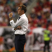 Jason Kreis, NYCFC Coaach on the sideline during the New York Red Bulls Vs NYCFC, MLS regular season match at Red Bull Arena, Harrison, New Jersey. USA. 10th May 2015. Photo Tim Clayton