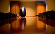 NOT TO BE RELEASED   (Boston, MA - March 14, 2007)  Mohamed A. El-Erian president and chief executive officer of Harvard Management Company inside the board room at HMC in Boston, MA. Staff Photo Justin Ide/Harvard News Office  NOT TO BE RELEASED