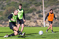 ESTEPONA - 06-01-2016, AZ in Spanje 6 januari, AZ speler Ron Vlaar, AZ speler Markus Henriksen, AZ speler Joris van Overeem