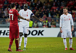 KAZAN, RUSSIA - Thursday, November 5, 2015: Liverpool's Mamadou Sakho and Rubin Kazan during the UEFA Europa League Group Stage Group B match at the Kazan Arena. (Pic by Oleg Nikishin/Propaganda)
