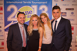 LIVERPOOL, ENGLAND - Wednesday, June 12, 2013: Alex and Viktoriya Sabotinova during a Gala Dinner for the sponsors of the Liverpool Hope International Tennis Tournament hosted by Liverpool Hope University at Hope Park. (Pic by David Rawcliffe/Propaganda)