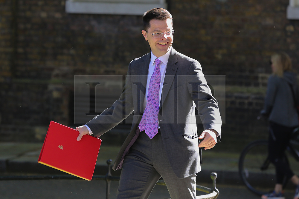 © Licensed to London News Pictures. 14/05/2019. London, UK. James Brokenshire - Secretary of State for Housing Communities and Local Government arrives in Downing Street for the weekly Cabinet meeting. Photo credit: Dinendra Haria/LNP