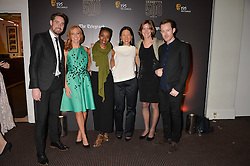 Left to right, Ben Smith, Sarah Jane Mee, Noma Dumezweni, Debrett's managing director Renée Kuo, Dame Katherine Grainger and Will Kennard at the Debrett's 500 Party recognising Britain's 500 most influential people, held at BAFTA, 195 Piccadilly, London England. 23 January 2017.