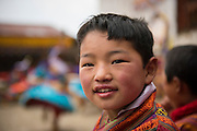 Bhutanese boy enjoying Gasa Tschu