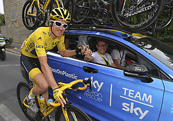 July 29, 2018 - Paris Champs-Elysees, France - PARIS CHAMPS-ELYSEES, FRANCE - JULY 29 : THOMAS Geraint (GBR) of Team SKY, BRAILSFORD Dave (GBR) General Manager of Team SKY during stage 21 of the 105th edition of the 2018 Tour de France cycling race, a stage of 116 kms between Houilles and Paris Champs-Elysees on July 29, 2018 in Paris Champs-Elysees, France, 29/07/18 (Credit Image: © Panoramic via ZUMA Press)
