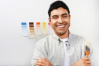 Man Choosing Paint Color