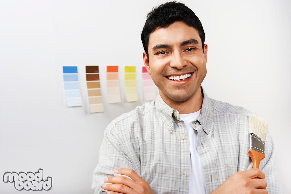 Man Choosing Paint Color