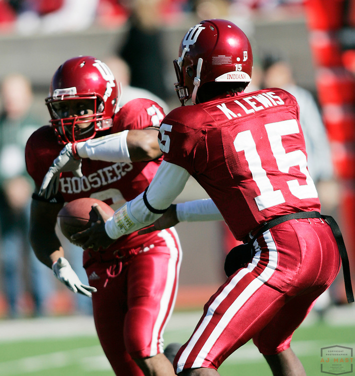 28 October 2006: Indiana wide receiver Marcus Thigpen (2) as the Indiana Hoosiers beat the the Michigan State Spartans 46-21 in college football in Bloomington, Ind.