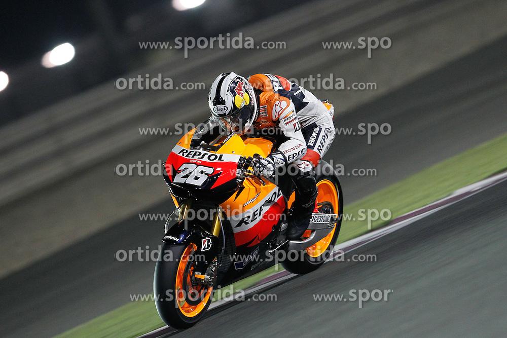 19.03.2010, Doha, Katar, QAT, MotoGP, Tests im Bild Dani Pedrosa - Repsol Honda team, EXPA Pictures © 2010, PhotoCredit: EXPA/ InsideFoto/ Semedia / SPORTIDA PHOTO AGENCY