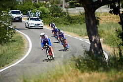 FDJ Nouvelle Aquitaine Futuroscope at Stage 1 of 2019 Giro Rosa Iccrea, an 18 km team time trial from Cassano Spinola to Castellania, Italy on July 5, 2019. Photo by Sean Robinson/velofocus.com