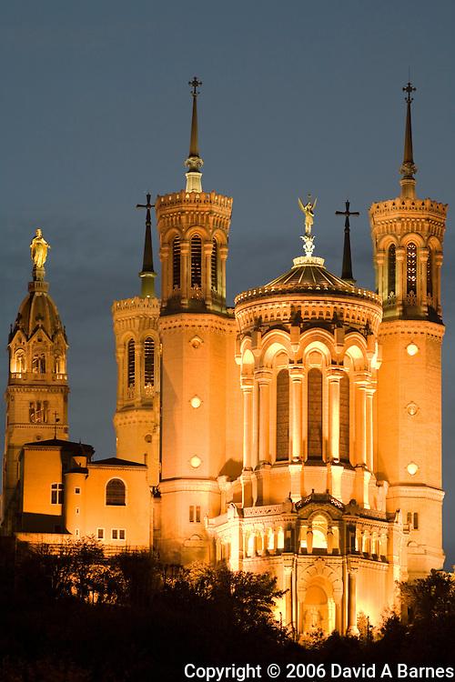 Basilica of Notre Dame de Fourviere, Lyon, Rhone, France
