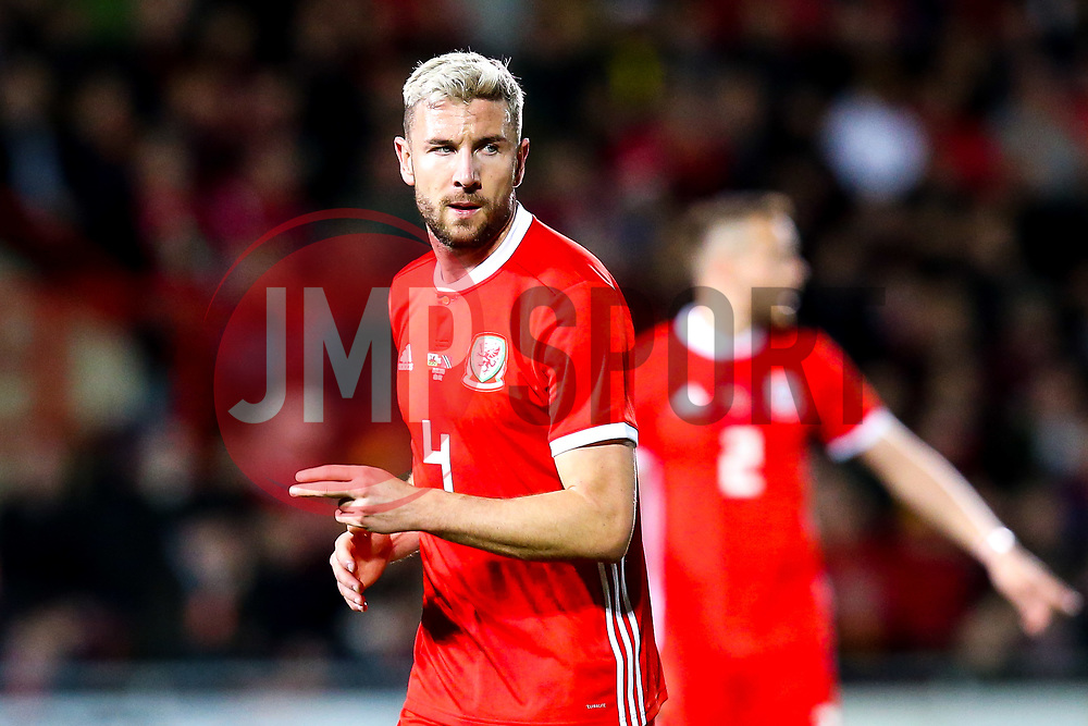 Paul Dummett of Wales - Mandatory by-line: Robbie Stephenson/JMP - 20/03/2019 - FOOTBALL - The Racecourse Ground - Wrexham, United Kingdom - Wales v Trinidad and Tobago - International Challenge Match