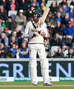 Mitchell Starc of Australia batting during the International Test Match 2019, fourth test, day two match between England and Australia at Old Trafford, Manchester, England on 5 September 2019.
