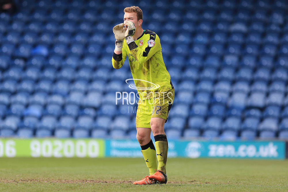 Will Henry during the Sky Bet League 1 match between Rochdale and Swindon Town at Spotland, Rochdale, England on 30 April 2016. Photo by Daniel Youngs.
