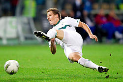 Valter Birsa of Slovenia during football match between National Teams of Slovenia and Serbia of UEFA Euro 2012 Qualifying Round in Group C on October 11, 2011, in Stadium Ljudski vrt, Maribor, Slovenia.  Slovenia defeated Serbia 1-0. (Photo by Vid Ponikvar / Sportida)
