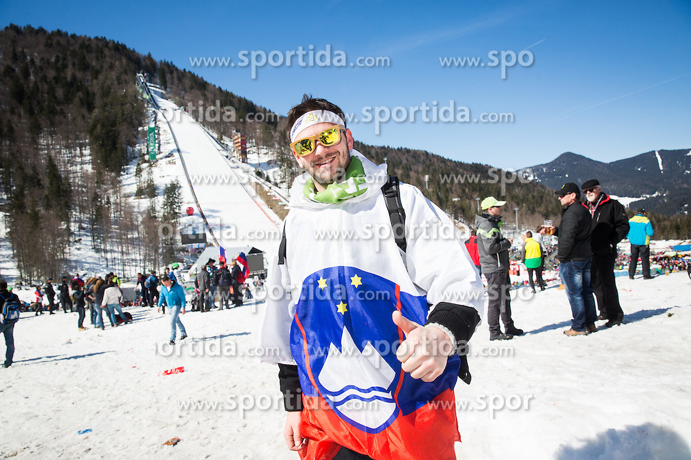 Fans during the Ski Flying Hill Team Competition at Day 3 of FIS Ski Jumping World Cup Final 2016, on March 19, 2016 in Planica, Slovenia. Photo by Ziga Zupan / Sportida