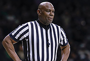 SOUTH BEND, IN - JANUARY 12: NCAA referee Les Jones is seen during the Notre Dame Fighting Irish and Boston College Eagles game at Purcell Pavilion on January 12, 2019 in South Bend, Indiana. (Photo by Michael Hickey/Getty Images) *** Local Caption *** Les Jones