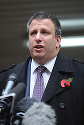 © London News Pictures. 03/11/2011. London, UK. Former Paul Harris, solicitor to Salman Butt speaks to the media outside Southwark Crown Court, London today (03/11/2011) following sentencing of three Pakistan Cricketers and an agent for their part in a match-fixing scandal. Three Pakistan cricketers,  Salman Butt, Mohammad Asif and Mohammad Amir have been found guilty of conspiracy to cheat and conspiracy to obtain and accept corrupt payments.  Photo credit: Ben Cawthra/LNP