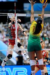 23-08-2009 VOLLEYBAL: WGP FINALS JAPAN - BRAZILIE: TOKYO <br /> Brazilie wint met 3-1 van Japan en zijn de winnaar van de Grand Prix 2009 / Kaori INOUE<br /> ©2009-WWW.FOTOHOOGENDOORN.NL