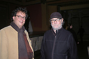 Ivan Wirth and Paul McCarthy. Caribbbean Pirates at the Coppermill  by Paul McCarthy Whitechapel off-Site installation and diner at Shoreditch Town Hall.    22 October 2005. ONE TIME USE ONLY - DO NOT ARCHIVE © Copyright Photograph by Dafydd Jones 66 Stockwell Park Rd. London SW9 0DA Tel 020 7733 0108 www.dafjones.com